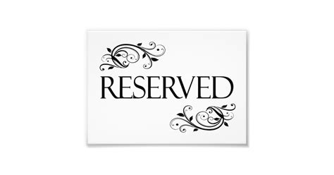 reserved cards for tables templates wedding reserved table card photo print zazzle
