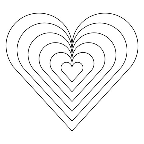 rainbow hearts coloring pages rainbow heart coloring pages coloring home