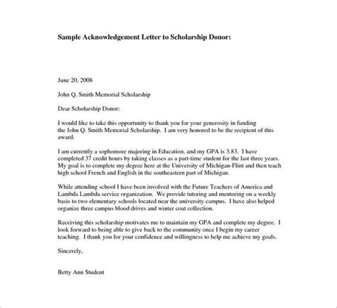 donor acknowledgement letter template 40 free acknowledgement letter templates pdf sle formats