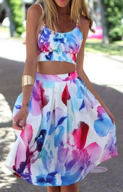 Lnice Flower Top Skirt 22 feminine watercolor skirt ideas for this summer