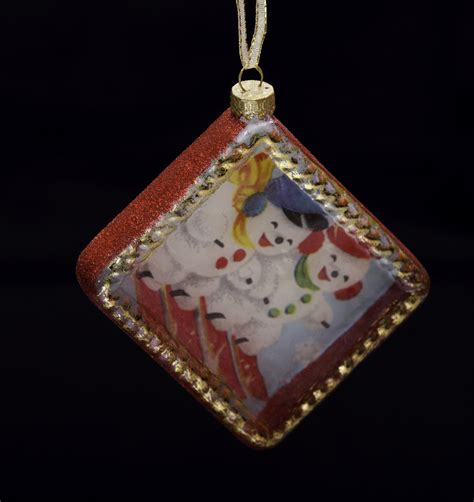 christmas ornaments by eb picture frame snowman ornament