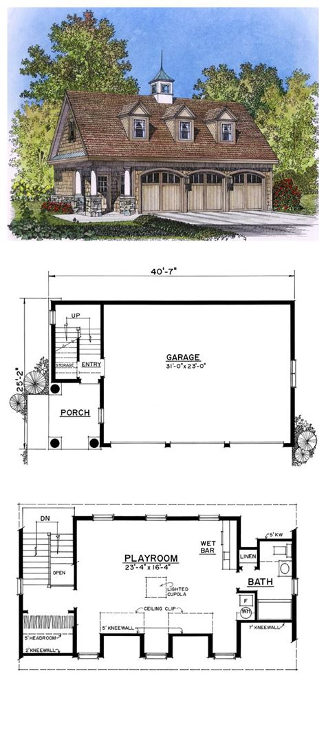 garage plans with living area garage plan 86027