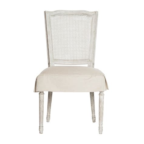 White Slipcover Dining Chair Antique White Ethan Dining Chair With Slipcover By Aidan Gray