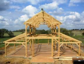 Delightful Post And Beam Barn Plans #2: Barns-texas-post-beam-timber-frame-barn.jpg