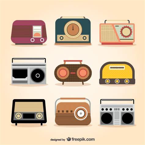 imagenes radio retro aparatos de radio retro descargar vectores gratis