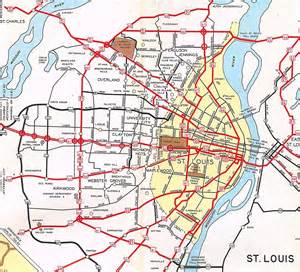 missouri highway department map of st louis in 1953 prior