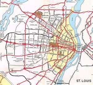 highway department maps missouri highway department map of st louis in 1953 prior