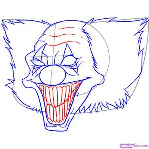 how to draw killer clowns step by step tattoos pop