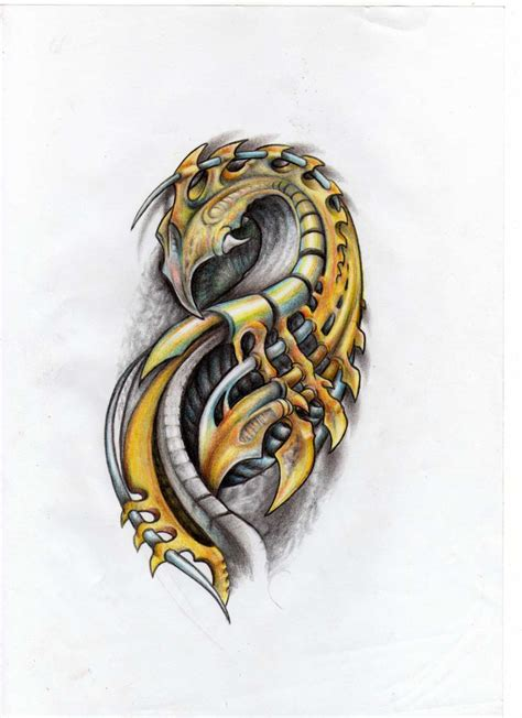 biomechanical tattoo design biomechanical sketch by liliana08 on deviantart
