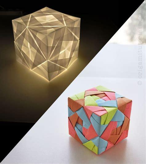 3d origami lshade tutorial looks progressive but it s just paper pretty cool idea to