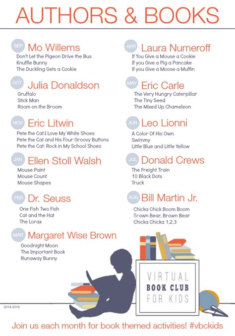 Book Club Worksheets by Book Club For Featured Authors For 2014 2015