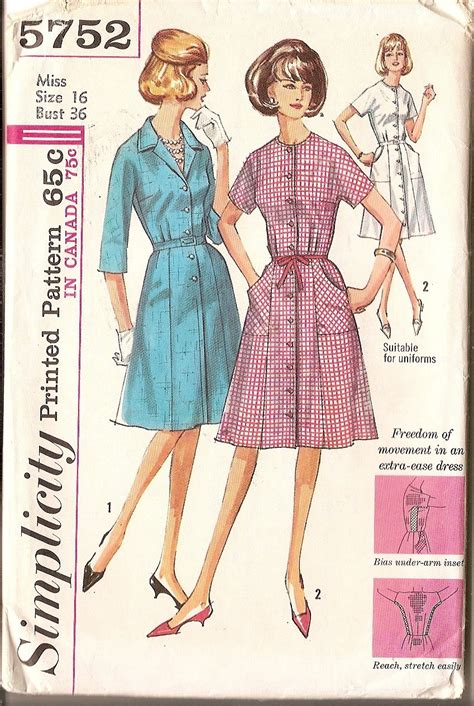 dress pattern one piece pattern one piece dress simplicity 5752 size 16 by