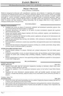 Construction Project Manager Sle Resume by Construction Resume Sles Resume Professional Writers