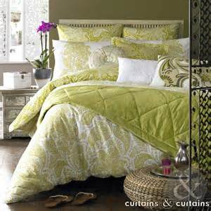Green Bedding And Curtains Elizabeth Hurley Lime Green Duvet Cover Curtains And Curtains