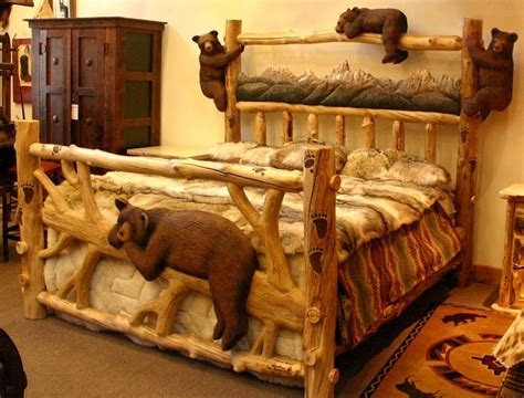wood carving bed goldilocks cottage on pinterest black bear bears and