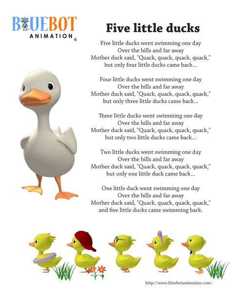 boat song lyrics in english five little ducks 5 little ducks nursery rhyme lyrics