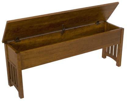 mission style storage bench 24 quot 60 quot mission storage benches amish furniture factory
