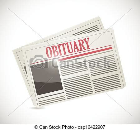 newspaper layout clipart vector clipart of obituary newspaper section illustration