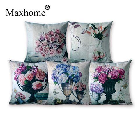 Home Decorative Pillows American Country Cotton Linen Pillowcase Retro Cushions Decorative Pillow Home Decor Sofa