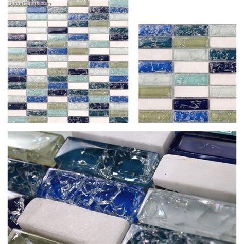 Ice Cracked Glass Kitchen Tile Decoration Bathroom Floor Cracked Glass Backsplash