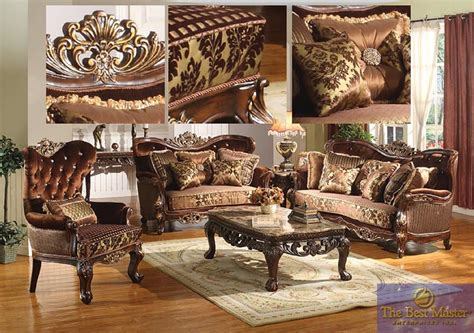 best furniture best furniture mar gold wood trim copper living set