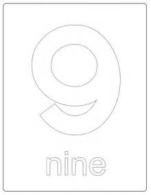 number 9 coloring pages coloring