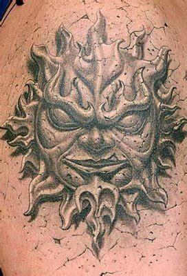 Tattoo 3d Sun | choosing tattoo 3d style sun god tattoo design