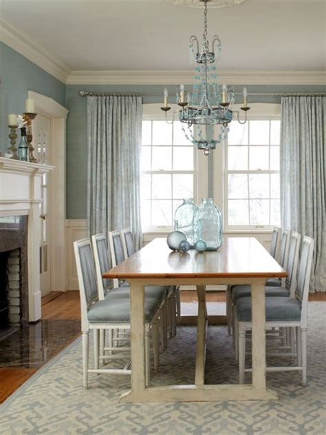 Blue Dining Room Houzz Light Blue Dining Room