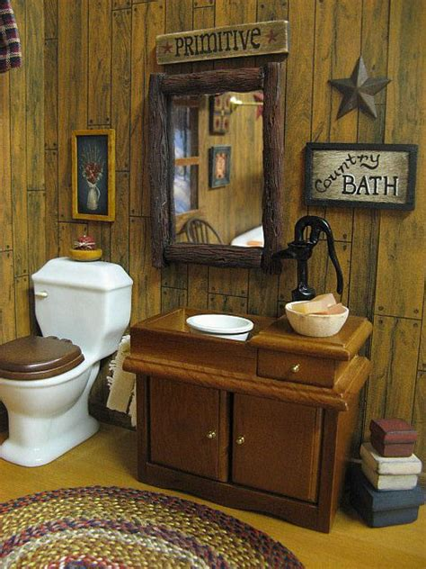 primitive country bathroom ideas dollhouse country bath primitive by miniaturecabindecor4 via flickr bathroom