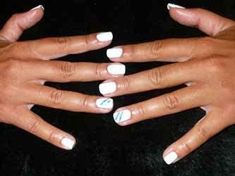 Ongle Blanc Et Or by Ongles Gel Blanc