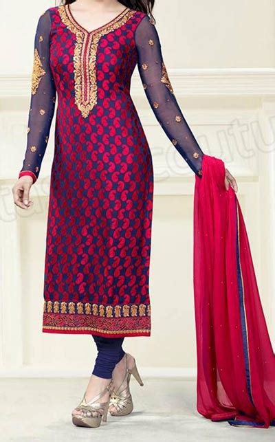 churidar suits latest fashion trend in india as night exclusive long salwar kameez designs 2015 fashion trends