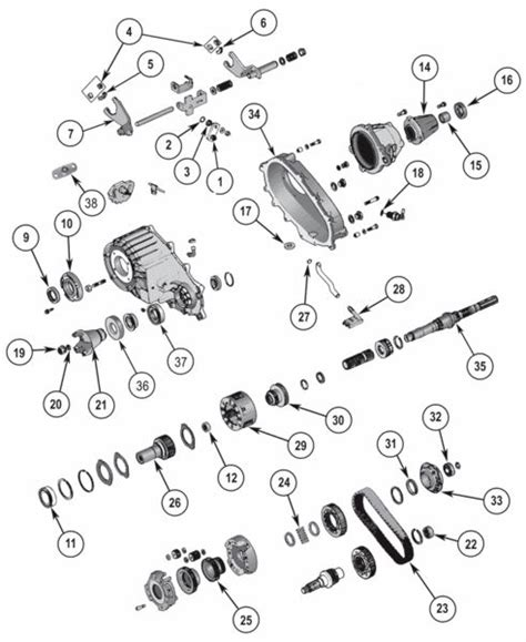jeep grand parts diagram new process np242 transfer parts exploded view