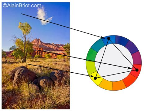 triadic color scheme exles color harmonies 3 analogous and triadic luminous landscape