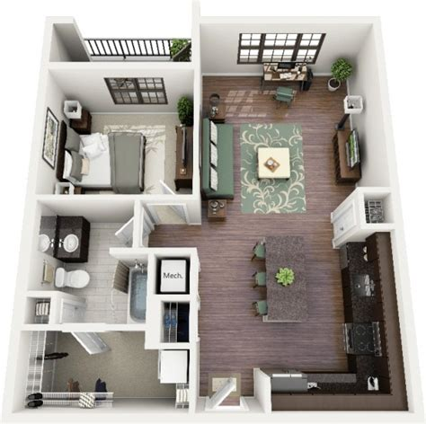 plan 3d chambre plan 3d appartement 1 chambre 19