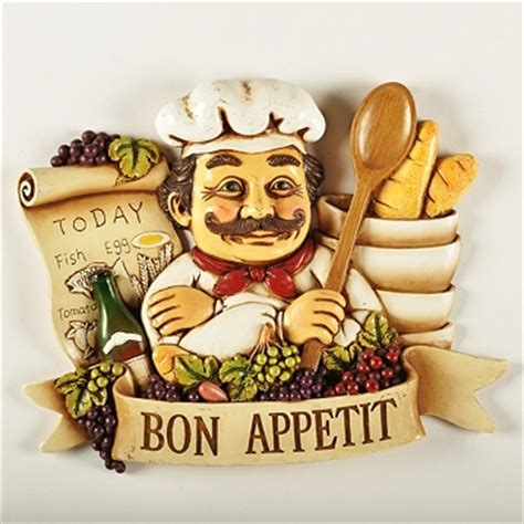 Kitchen Decor Bon Appetit Chef Grapes Wine Bon Appetit Wall Plaque Sign Menu