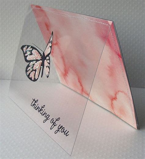 Handmade Acetate - handmade greeting card clear acetate front with