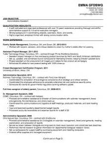 resume wording exles professional summary for administrative assistant