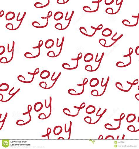 seamless pattern calligraphy seamless pattern joy christmas calligraphy stock vector