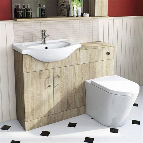 victoria plumb bathroom vanity units sienna oak arc combination vanity unit small victoria