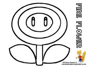 Mario pictures to color 119 super mario coloring fire flower at