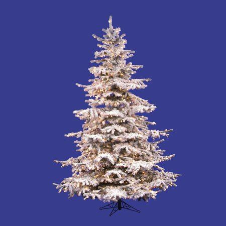 sierra nevada tree artificial vickerman artificial tree 6 5 x 53 quot flocked fir tree 943 tips walmart
