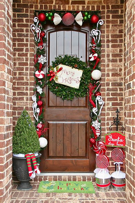 beautiful christmas front door decor ideas interior god