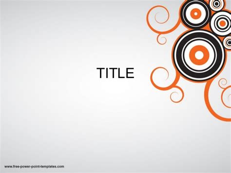 Cool Powerpoint Templates With Circles And Orange Effect Cool Powerpoint Title Slides
