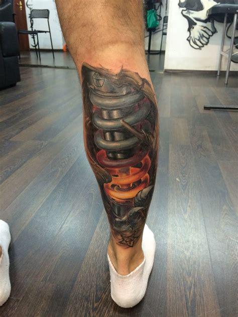 motocross tattoo motocross biomeh leg motocrosstattoo ohlins