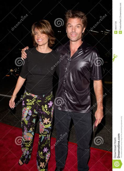 hollywood actresses with younger husbands harry hamlin lisa rinna editorial image image of smith