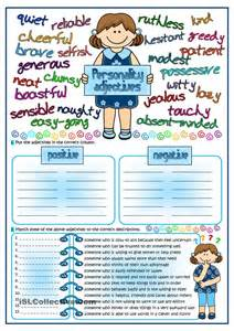 esl adjective worksheets humorholics