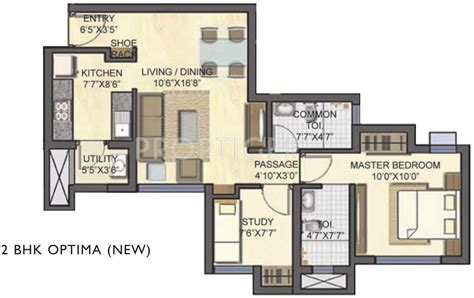 747 floor plan 747 sq ft 2 bhk 2t apartment for sale in lodha casa