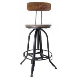 Wood Swivel Bar Stools With Back Architect S Industrial Wood Iron Counter Bar Swivel Stool