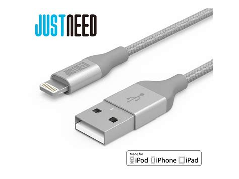 Kabel Iphone Lightning Cable 1m justneed lightning cable 1m nylonov 253 lightning kabel odoln 253 istage cz