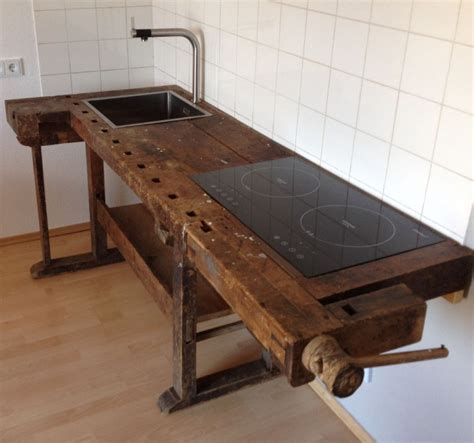 werkstatt vintage loftm 246 bel industrie vintage werkbank design k 252 che in